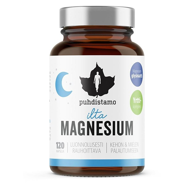DOPLŇKY STRAVY Puhdistamo Night Magnesium 120 kapslí (Hořčík)