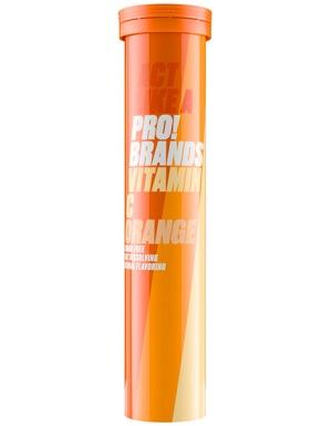 PRO!BRANDS Vitamin C 1000mg - 20 šumivých tbl. příchuť: pomeranč