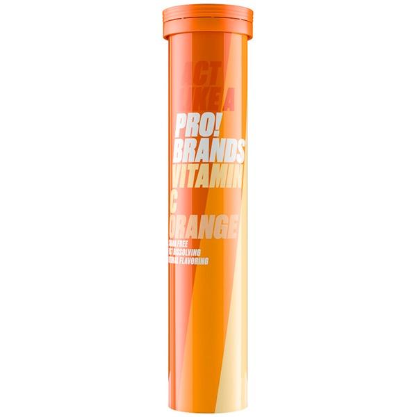 DOPLŇKY STRAVY PRO!BRANDS Vitamin C 1000mg - 20 šumivých tbl. příchuť: pomeranč