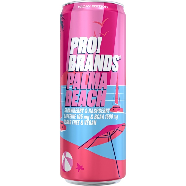 PRO!BRANDS BCAA Drink 330ml PALMA BEACH jahoda/malina
