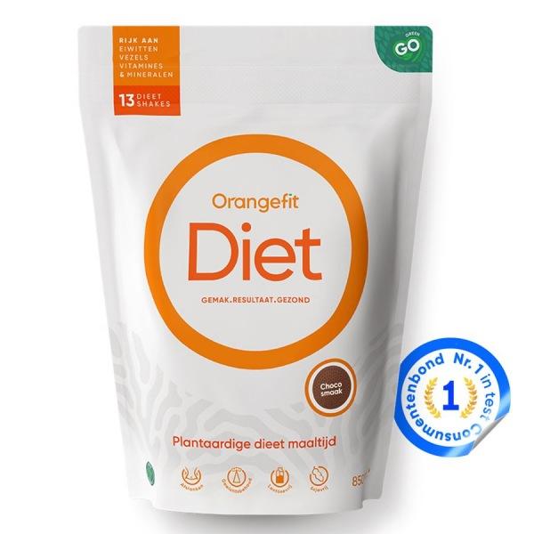 DOPLŇKY STRAVY Orangefit Diet 850g čokoláda
