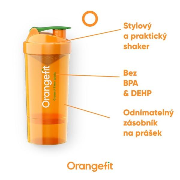 Orangefit Fit Šejkr 500ml se zásobníkem