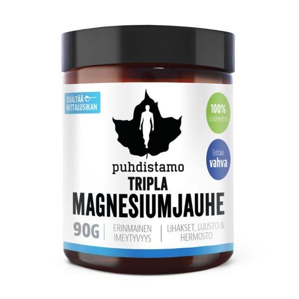 DOPLŇKY STRAVY Puhdistamo Triple Magnesium 90g (Hořčík)