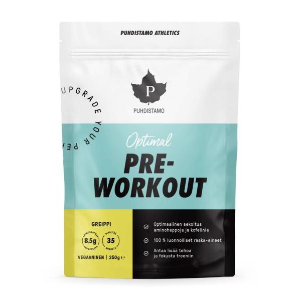 Puhdistamo Pre-Workout + Caffeine 350g grep