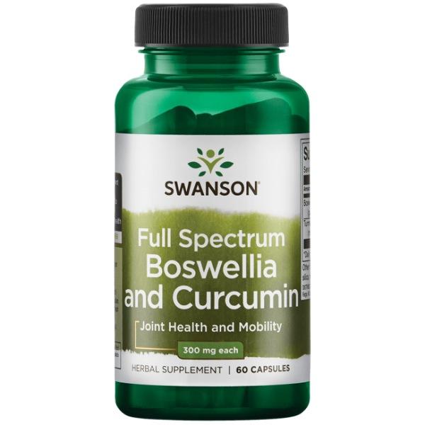 Swanson Boswellia a Curcumin 60 kapslí