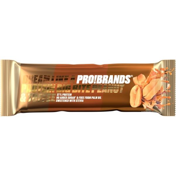 PRO!BRANDS PROTEIN BAR BIG BITE 45g - karamelovo-arašídová