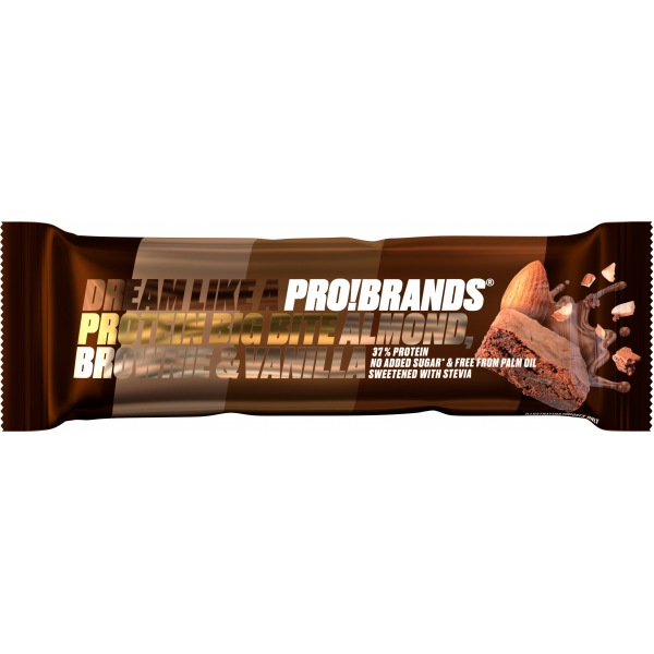 PRO!BRANDS PROTEIN BAR BIG BITE 45g - mandlové brownie s vanilkou