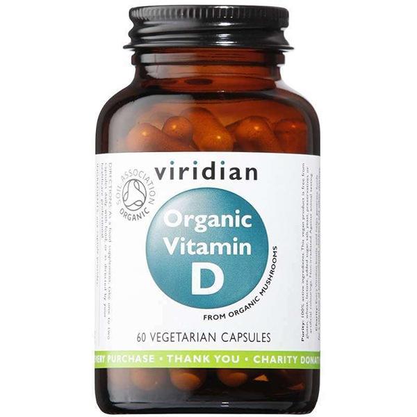 Vitamíny a minerály Viridian Vitamin D 60 kapslí Organic