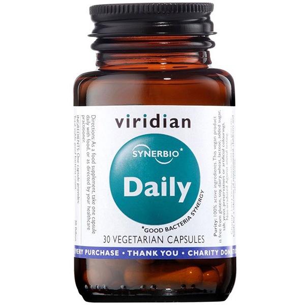 DOPLŇKY STRAVY Viridian Synerbio Daily 30 kapslí (Směs probiotik a prebiotik)
