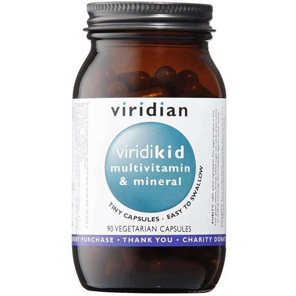 Vitamíny a minerály Viridian Viridikid Multivitamin 90 kapslí