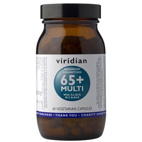 Vitamíny a minerály Viridian 65+ Multi 60 kapslí
