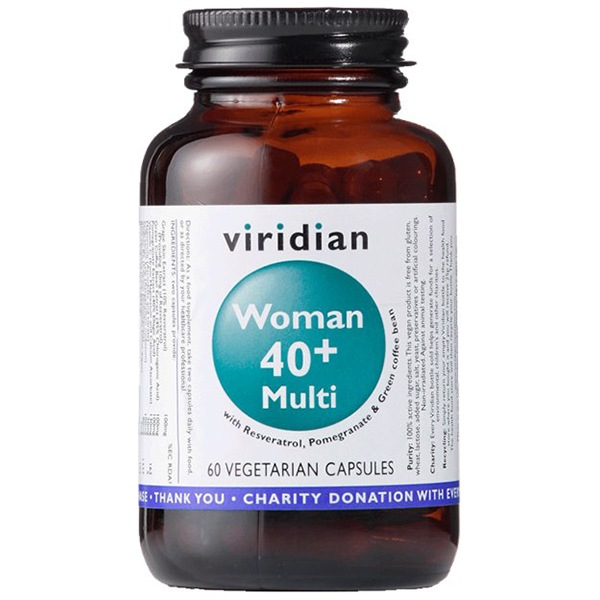 Vitamíny a minerály Viridian 40+ Woman Multivitamin 60 kapslí