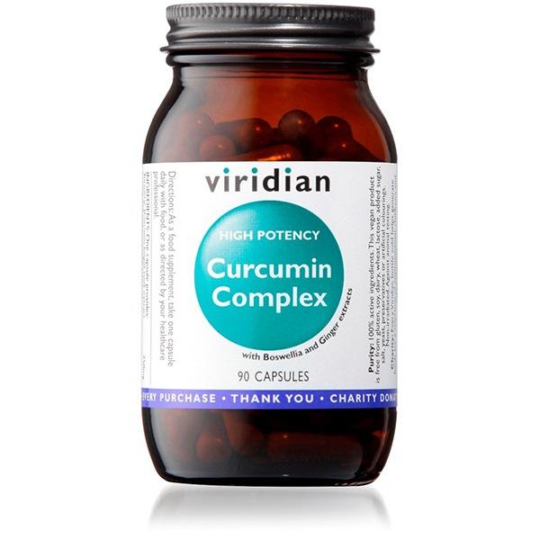 DOPLŇKY STRAVY Viridian Curcumin Complex 90 kapslí