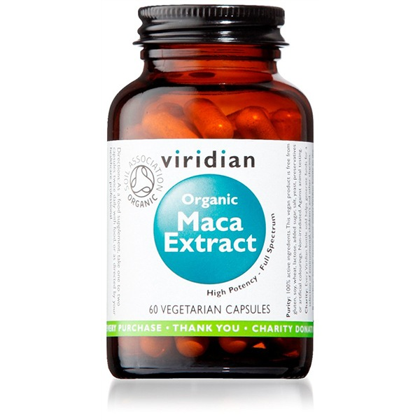 DOPLŇKY STRAVY Viridian Maca Extract 60 kapslí Organic