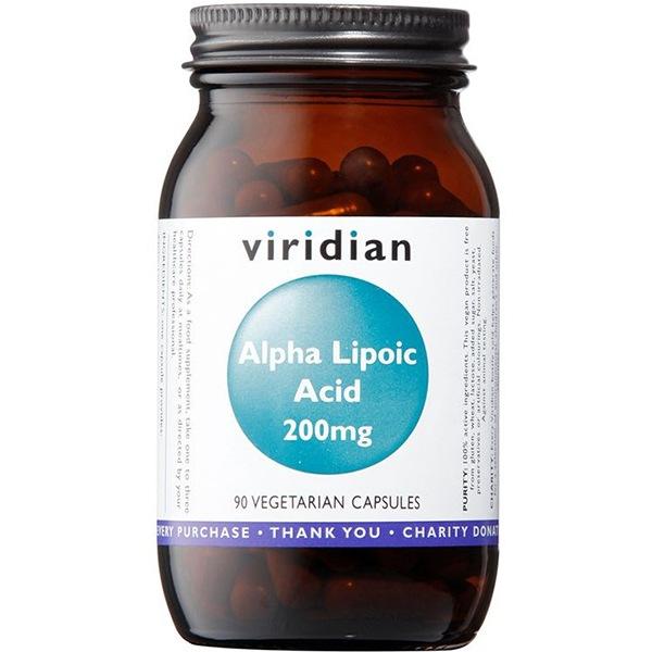 Viridian Alpha Lipoic Acid 200mg 90 kapslí