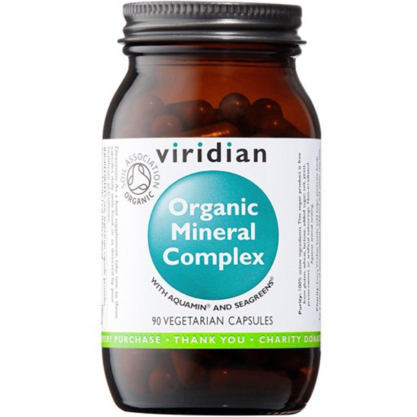 Viridian Mineral Complex 90 kapslí Organic (Komplex minerálů Bio)