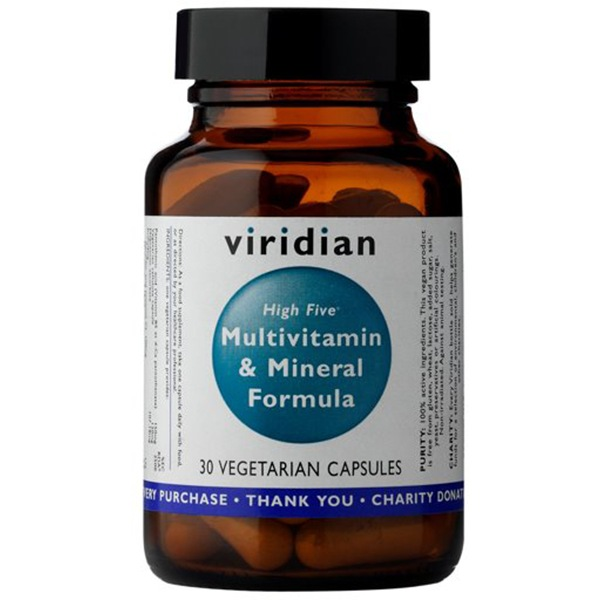 Vitamíny a minerály Viridian High Five Multivitamin & Mineral Formula 30 kapslí