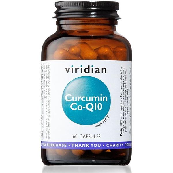 Viridian Curcumin Co-Q10 60 kapslí (Kurkumin a Koenzym Q10)