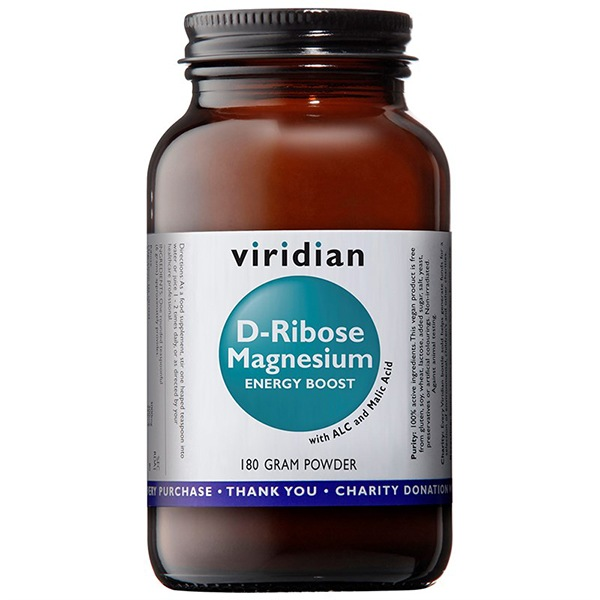 Vitamíny a minerály Viridian D-Ribose Magnesium 180g