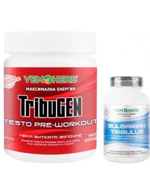 VemoHerb TribuGEN 300g borůvka + Tribulus Terrestris 90 kapslí