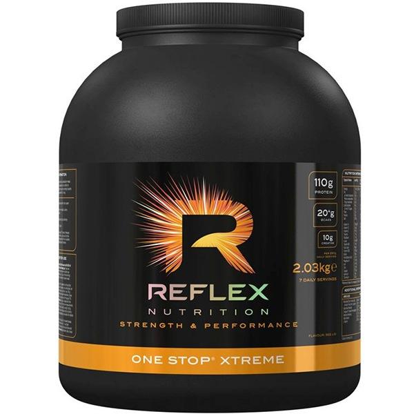 Anabolizéry a NO doplňky Reflex One Stop XTREME 2,03kg jahoda