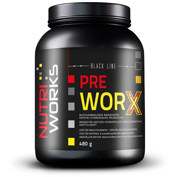 NutriWorks Pre Worx 480g borůvka