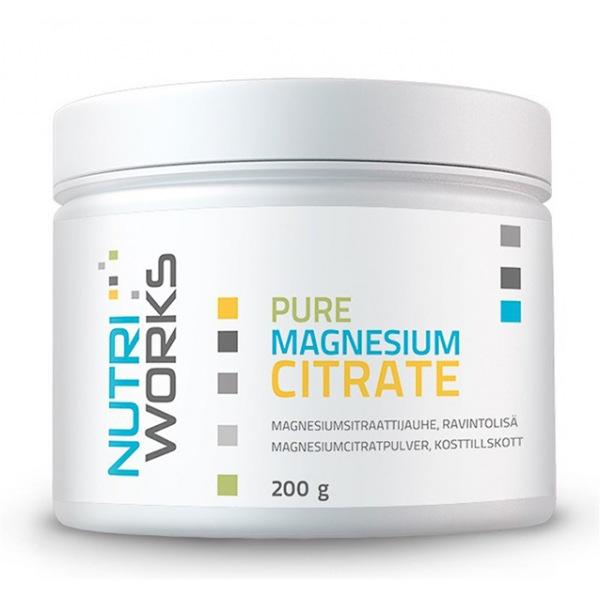 NutriWorks Pure Magnesium Citrate 200g (Čistý citrát hořečnatý)