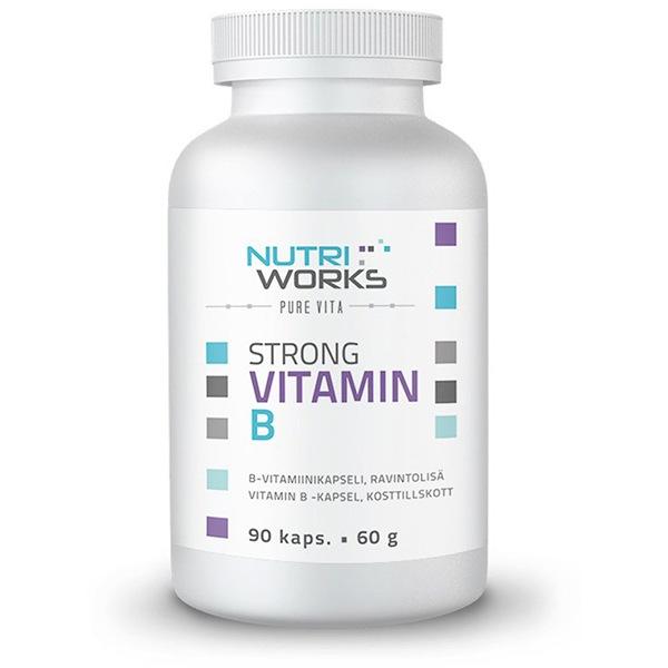 NutriWorks Strong Vitamin B 90 kapslí (Silný vitamín B)