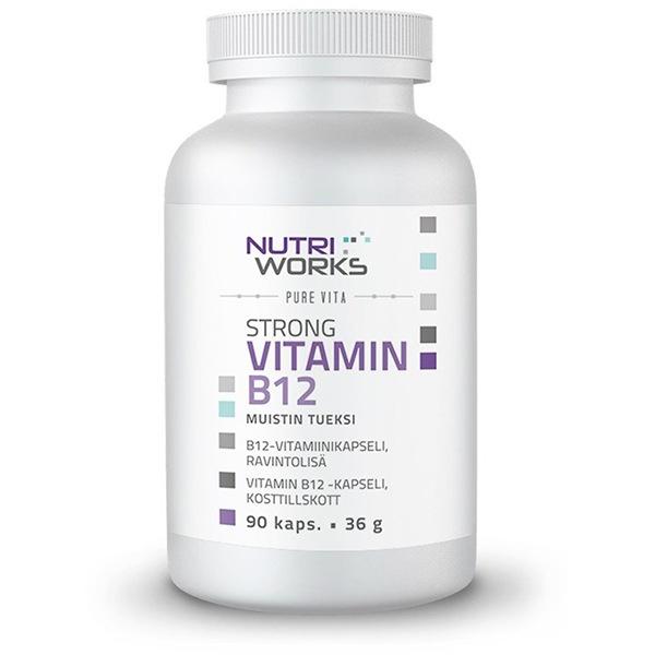 NutriWorks Strong Vitamin B12 90 kapslí (Silný vitamín B12)