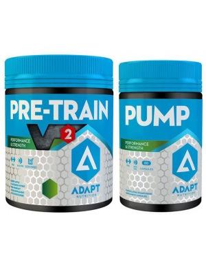 Adapt HARDCORE SET (Pre Train V2 330g zelené jablko + PUMP 80 kapslí)