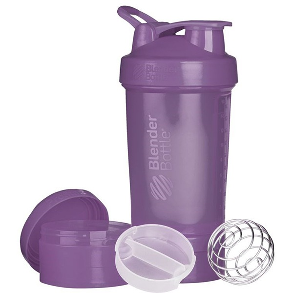Blender Bottle Šejkr ProStak se zásobníkem 650ml fialový