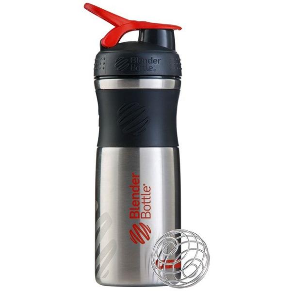 Blender Bottle Sport Mixer® nerezový červené logo