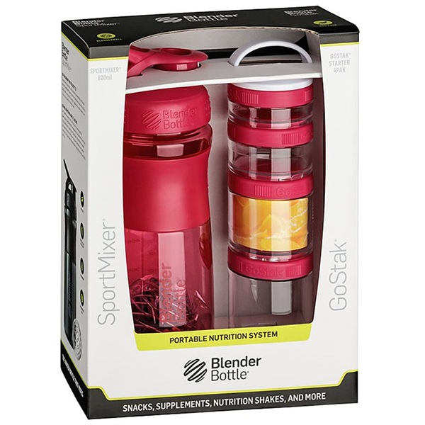 Blender Bottle Sport Mixer® GoStak růžový