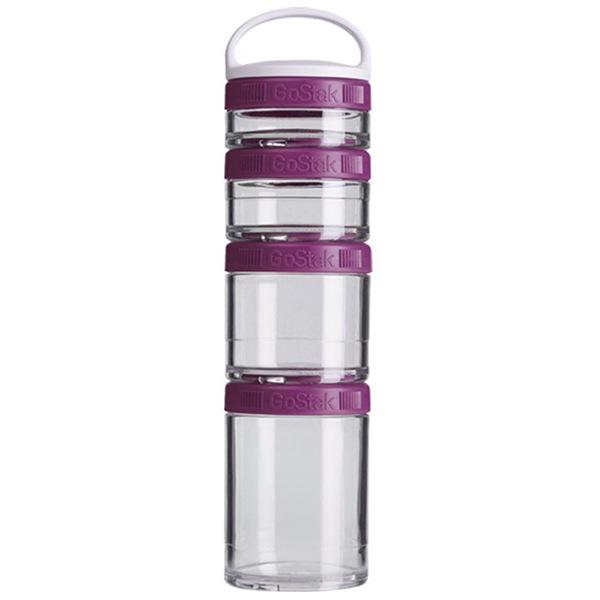 Blender Bottle GoStak® Starter 4 Pak fialový