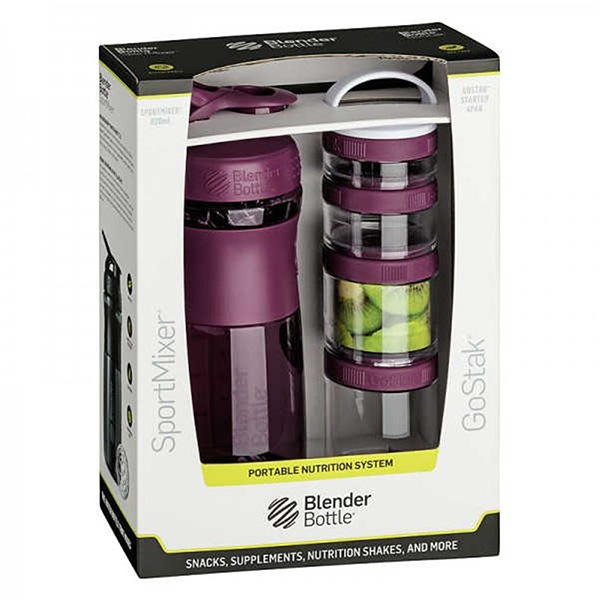 Blender Bottle Sport Mixer® GoStak fialový