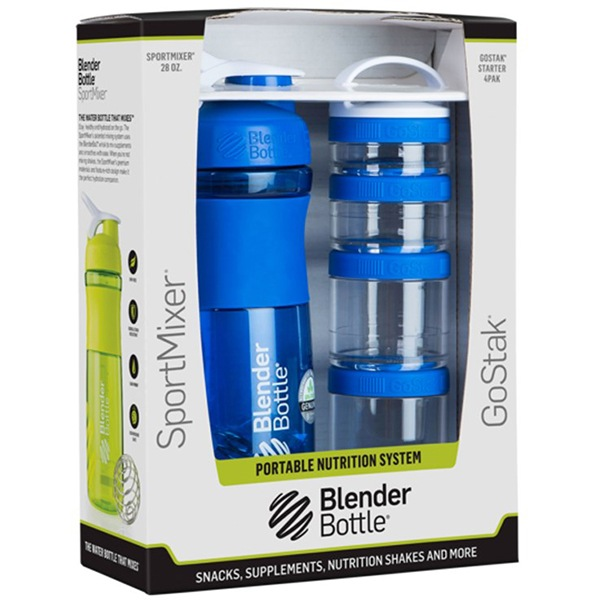Blender Bottle Sport Mixer® GoStak modrý