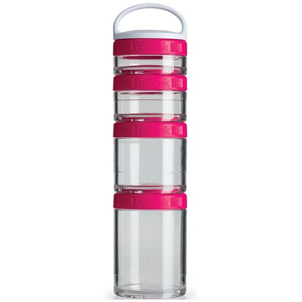 Blender Bottle GoStak® Starter 4 Pak růžový