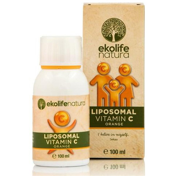 Ekolife Natura Liposomal Vitamin C 500mg 100ml pomeranč (Lipozomální vitamín C)