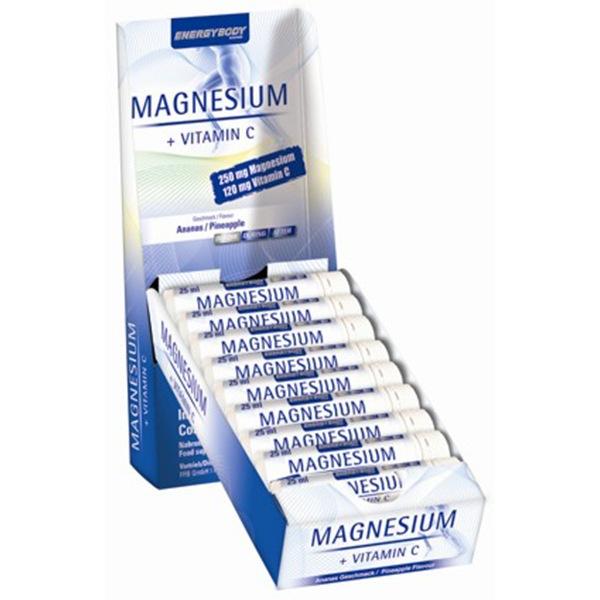 EnergyBody Magnesium Liquid + vitamín C 20 ampulí