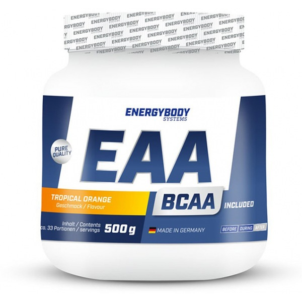 EnergyBody EAA 500g tropický pomeranč