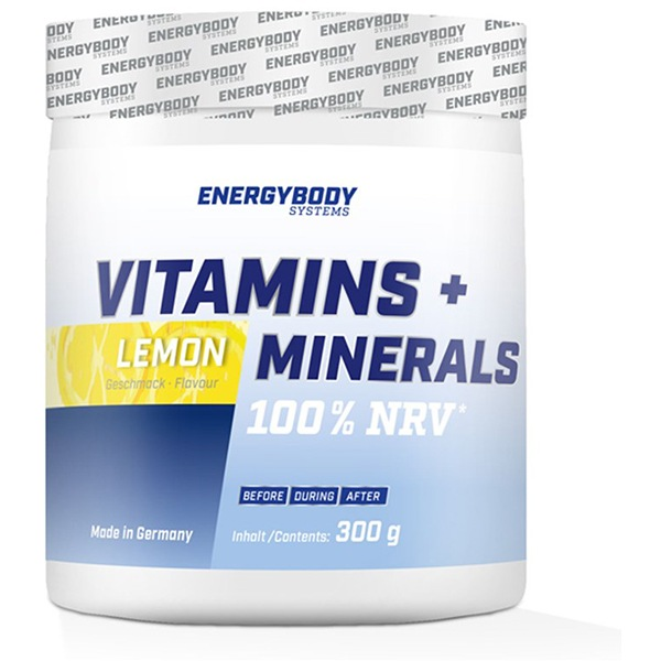 EnergyBody Vitamins + Minerals 300g lemon