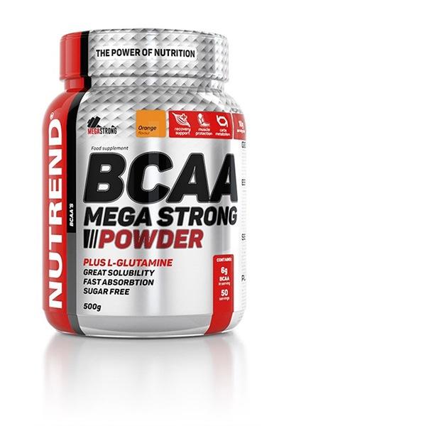 Nutrend BCAA Mega Strong Powder 500g pomeranč