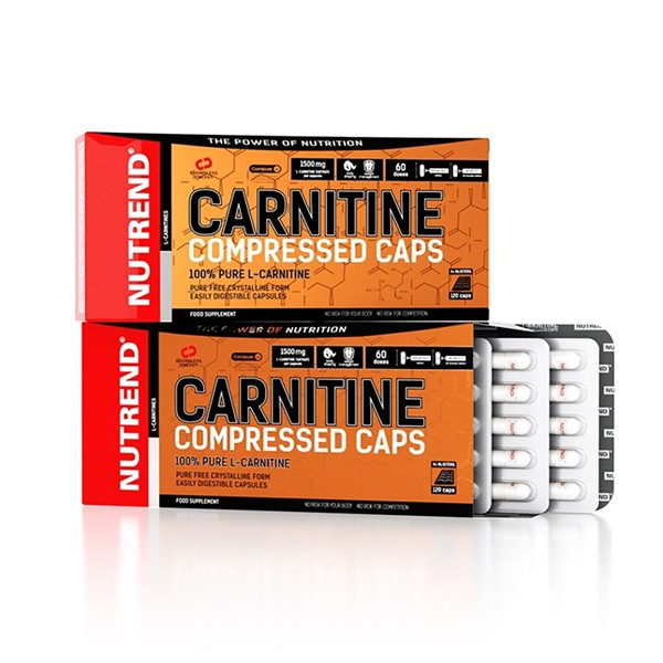Nutrend Carnitine Compressed Caps 120 kapslí