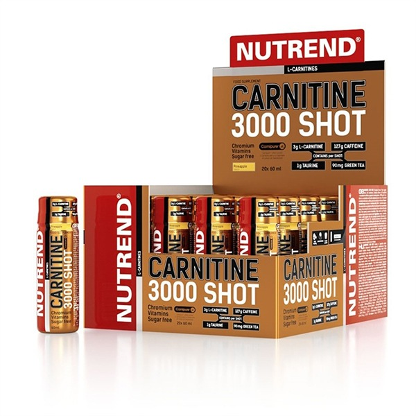 Nutrend Carnitine 3000 Shot 20x60ml pomeranč