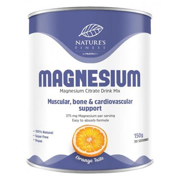 DOPLŇKY STRAVY Nutrisslim Magnesium Citrate 150g (Citrát hořečnatý) pomeranč