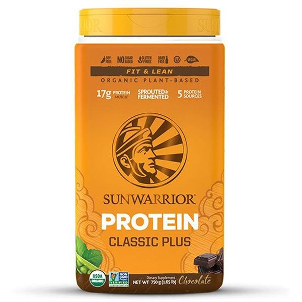 Sunwarrior Protein Classic Plus BIO 750g čokoláda