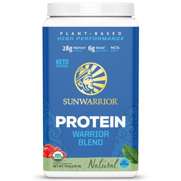 Sunwarrior Protein Blend BIO 750g natural (Hrachový, konopný protein a goji)