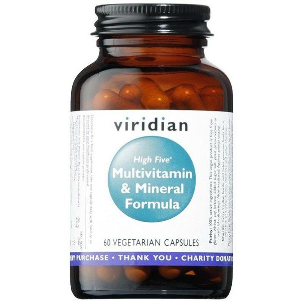 Viridian High Five Multivitamin & Mineral Formula 60 kapslí