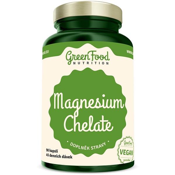 DOPLŇKY STRAVY GreenFood Nutrition Magnesium Chelát 90 kapslí