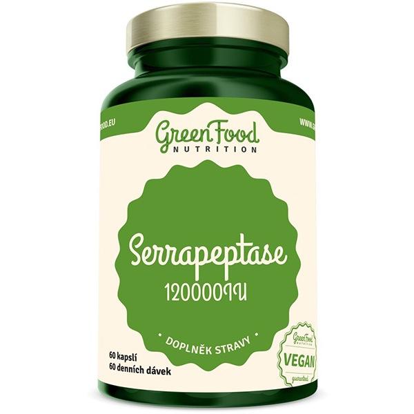 GreenFood Nutrition Serrapeptáza 120000IU 60 kapslí